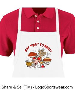 "SAY ""YES"" TO BBQ! Apron Design Zoom"