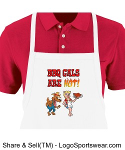 BBQ GALS ARE HOT! apron Design Zoom